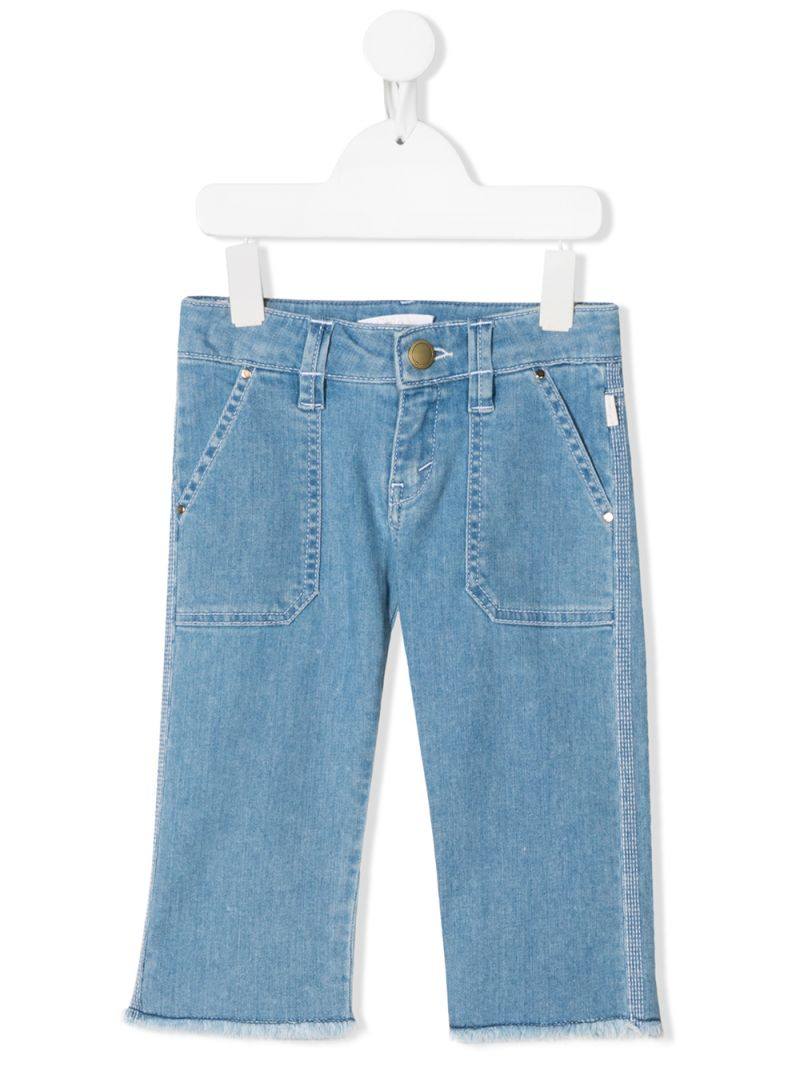 CHLOÈ KIDS: slim-fit jeans Color Blue_1