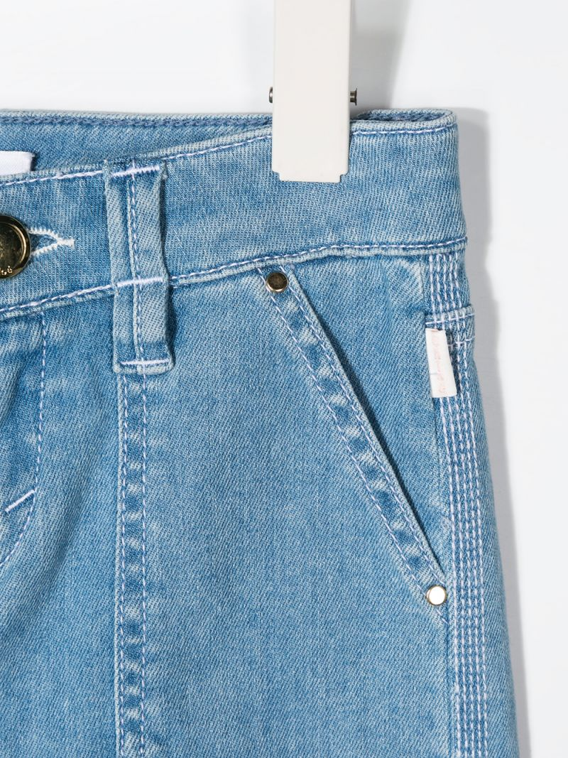 CHLOÈ KIDS: slim-fit jeans Color Blue_3