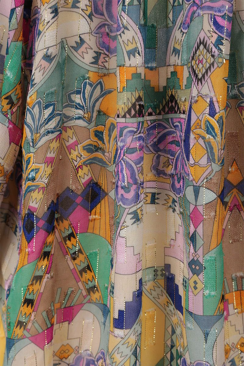 CHUFY: Inka blouse in viscose and lurex Color Multicolor_3