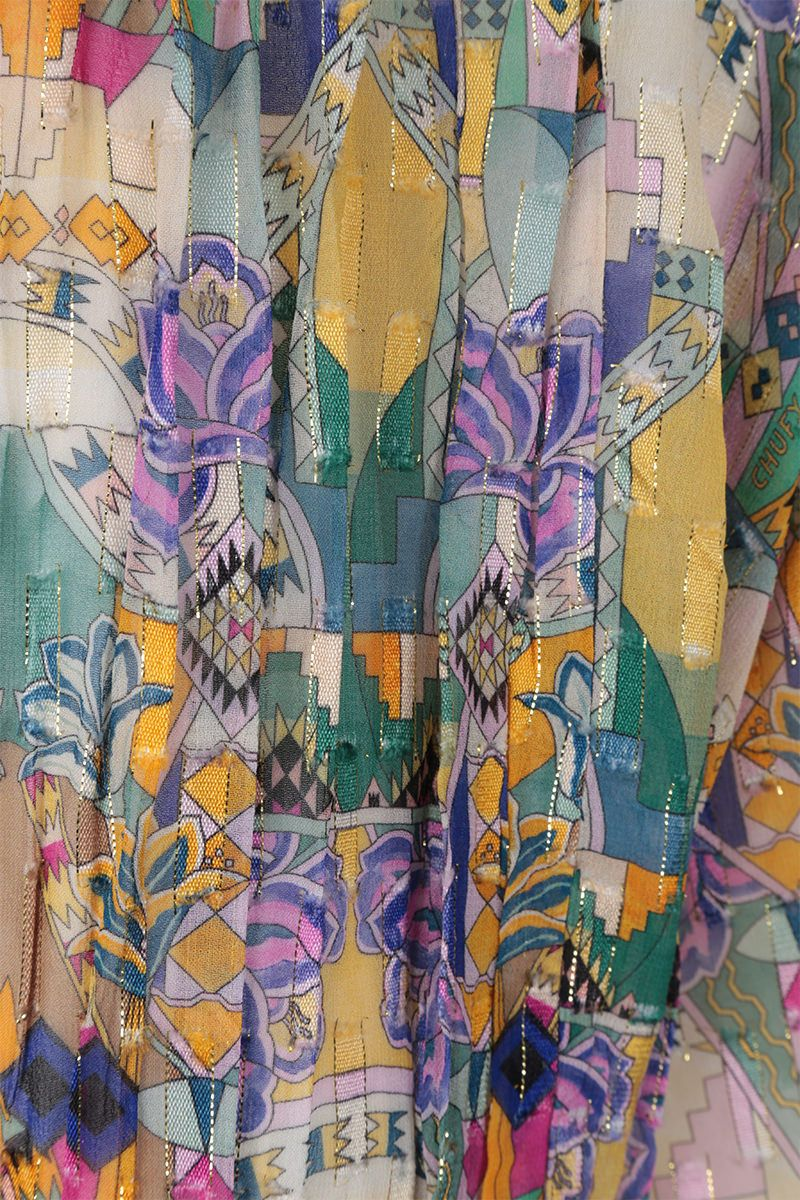 CHUFY: Inka blouse in viscose and lurex Color Multicolor_4
