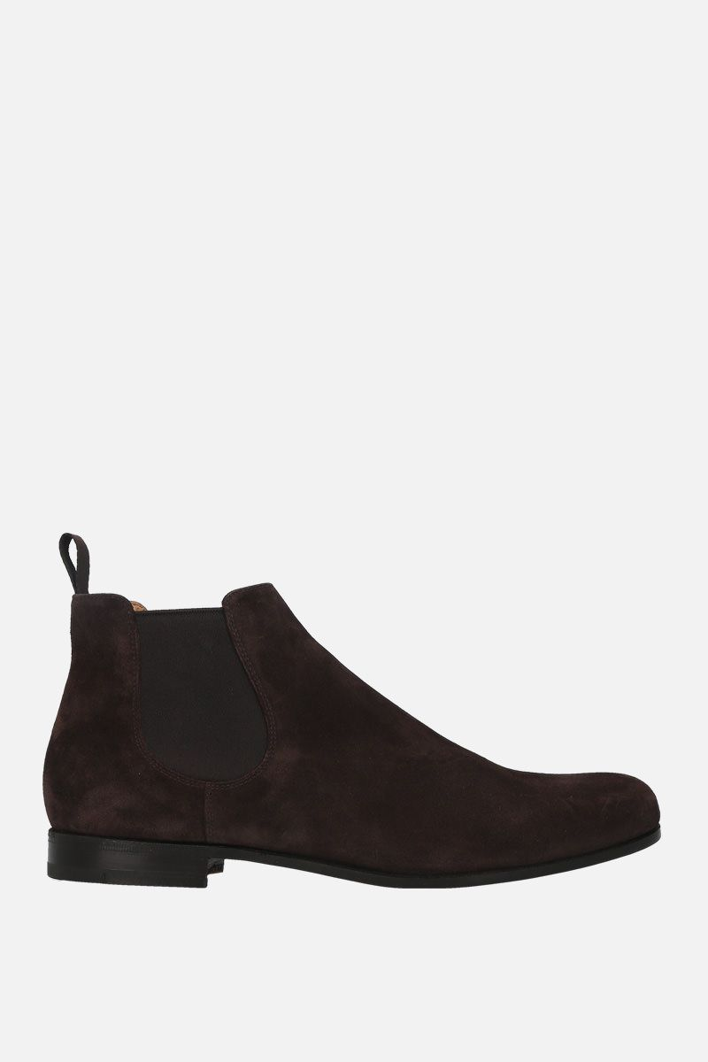 CHURCH'S: Danzey suede chelsea boots Color Brown_1