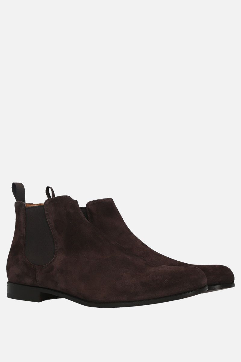 CHURCH'S: Danzey suede chelsea boots Color Brown_2