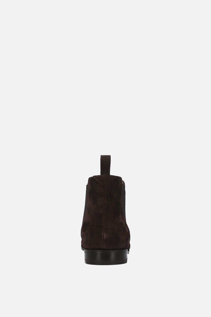CHURCH'S: Danzey suede chelsea boots Color Brown_3