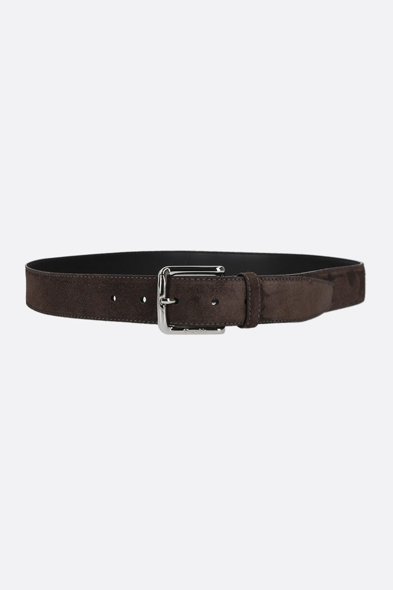 CHURCH'S: suede classic belt Color Brown_1