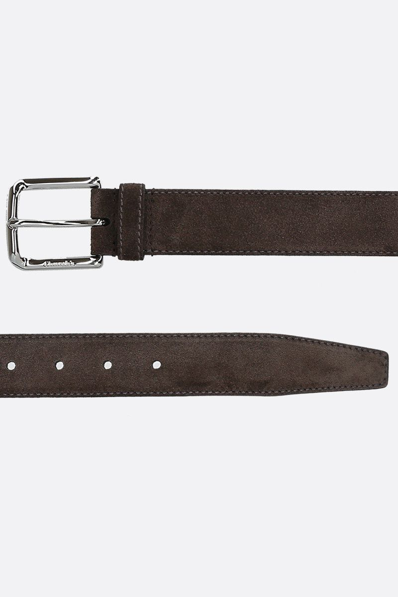 CHURCH'S: suede classic belt Color Brown_2