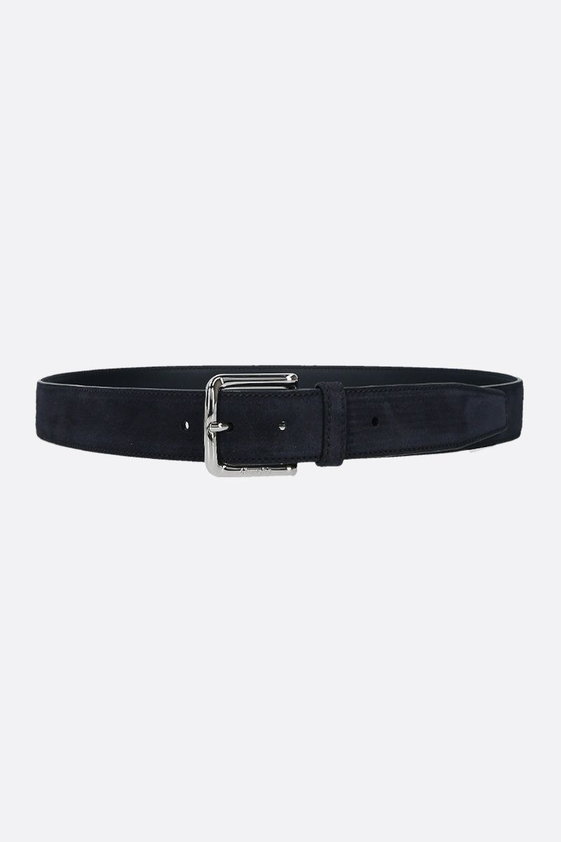 CHURCH'S: suede classic belt Color Blue_1