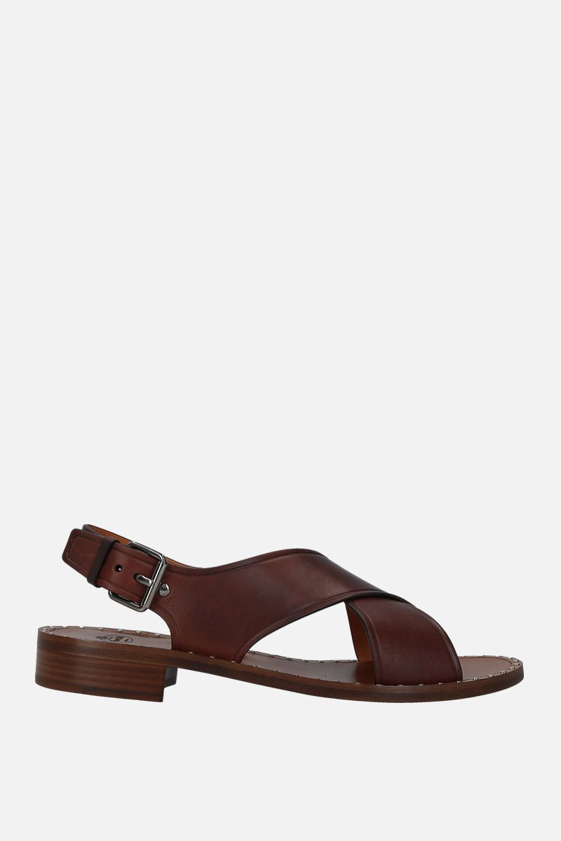 CHURCH'S: Rhonda flat sandals in smooth leather_1