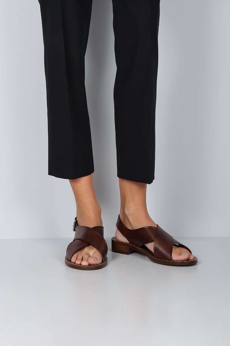CHURCH'S: Rhonda flat sandals in smooth leather_2