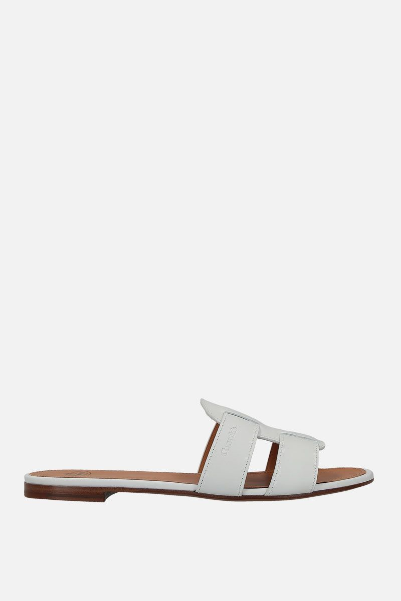 CHURCH'S: Dee Dee smooth leather slide sandals Color White_1