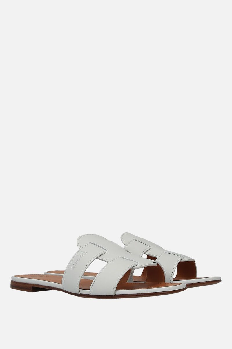 CHURCH'S: Dee Dee smooth leather slide sandals Color Multicolor_3