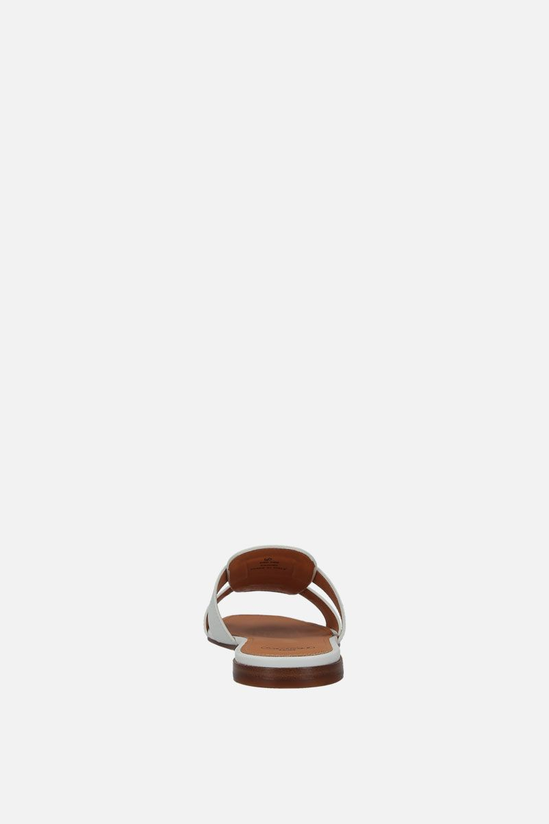 CHURCH'S: Dee Dee smooth leather slide sandals Color Multicolor_4