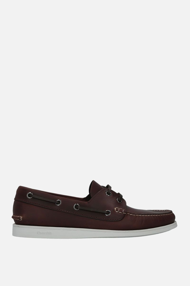 CHURCH'S: Marske smooth leather boat shoes Color Brown_1
