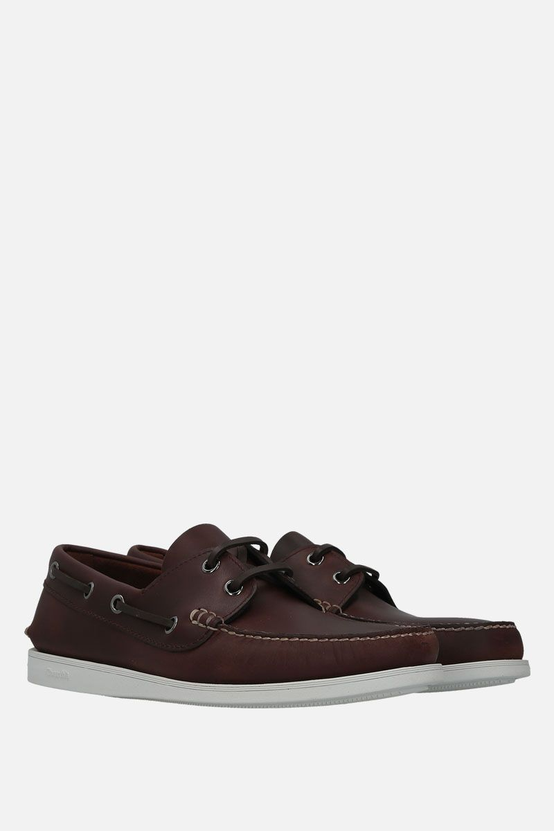 CHURCH'S: Marske smooth leather boat shoes Color Brown_3