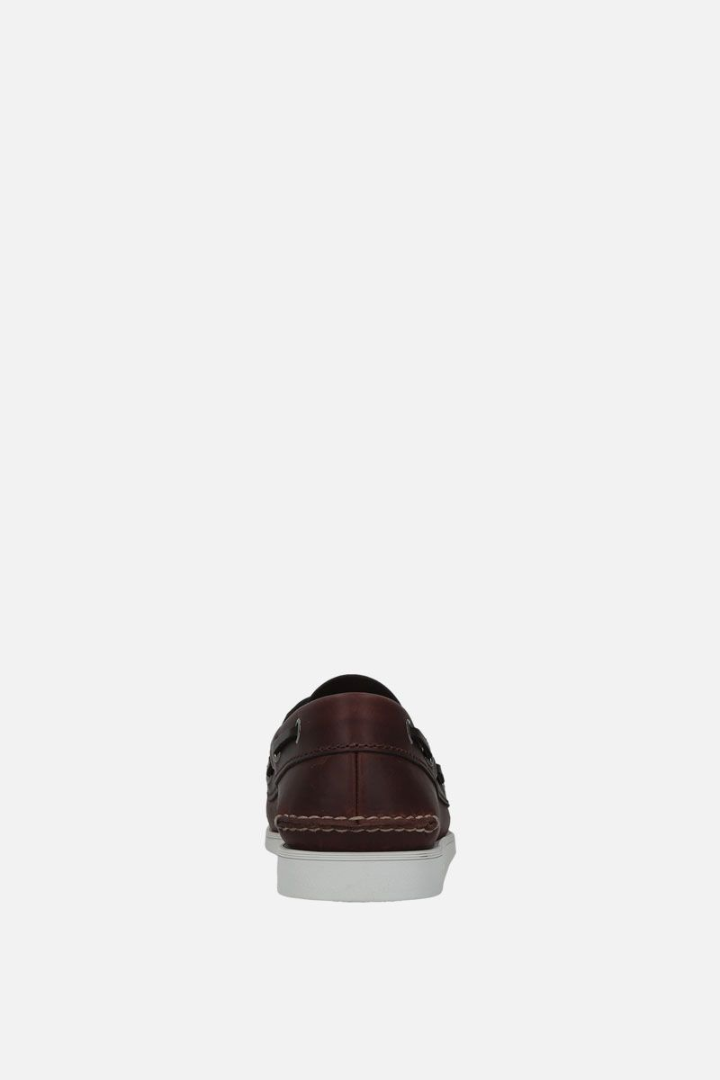 CHURCH'S: Marske smooth leather boat shoes Color Brown_4