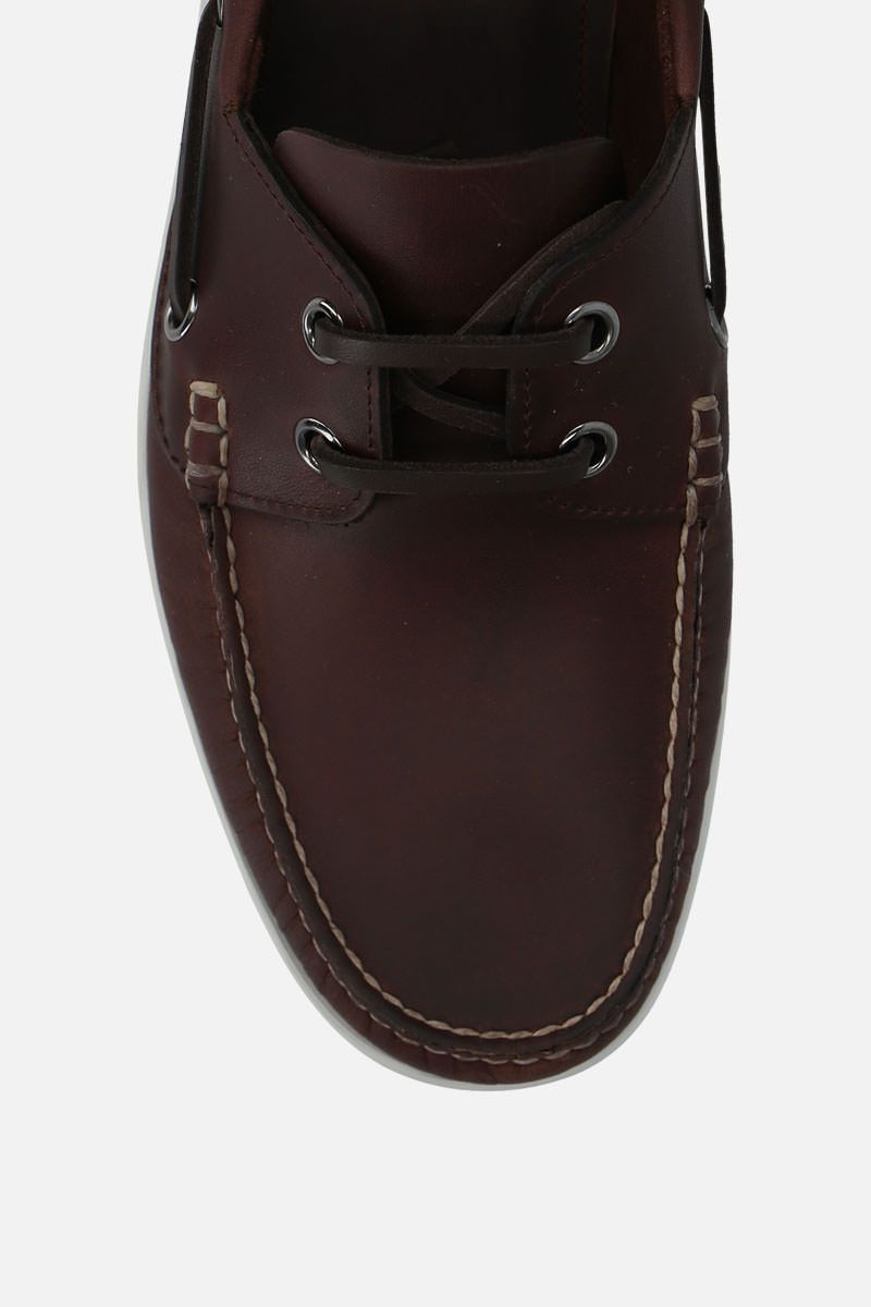 CHURCH'S: Marske smooth leather boat shoes Color Brown_5