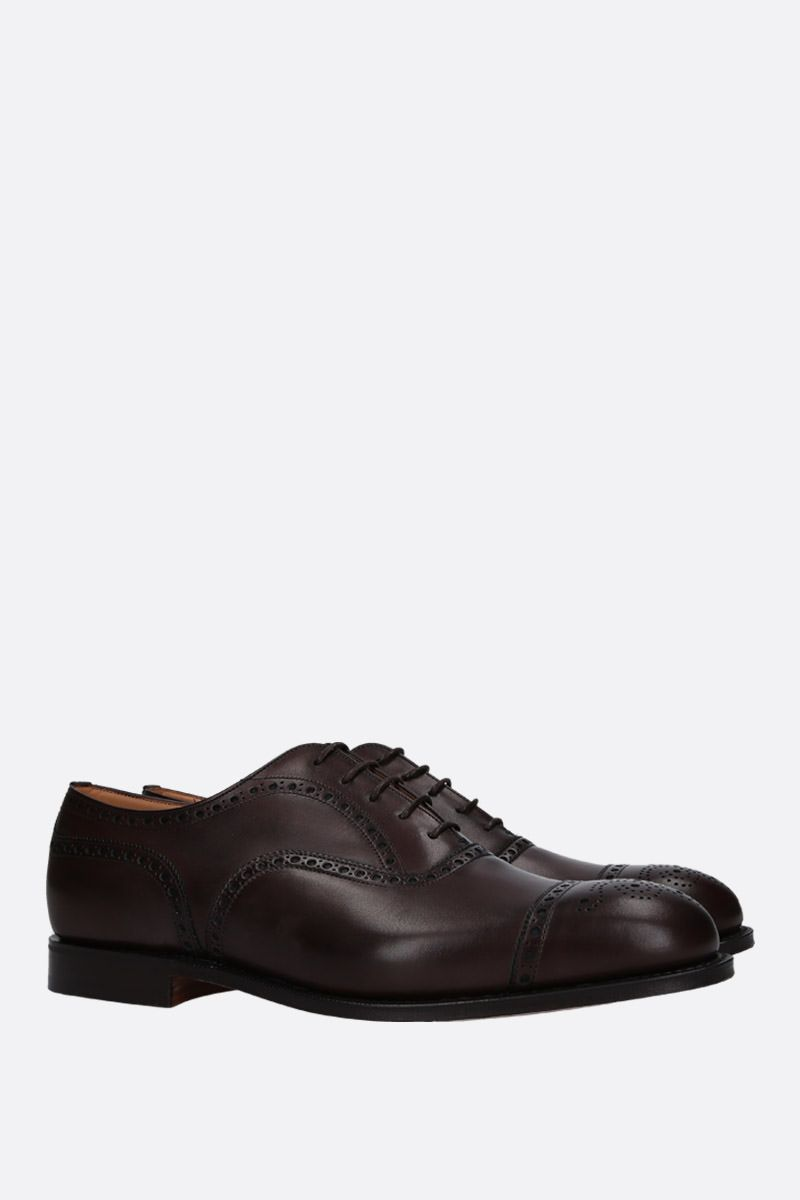 CHURCH'S: Diplomat oxford shoes in Nevada leather Color Brown_3