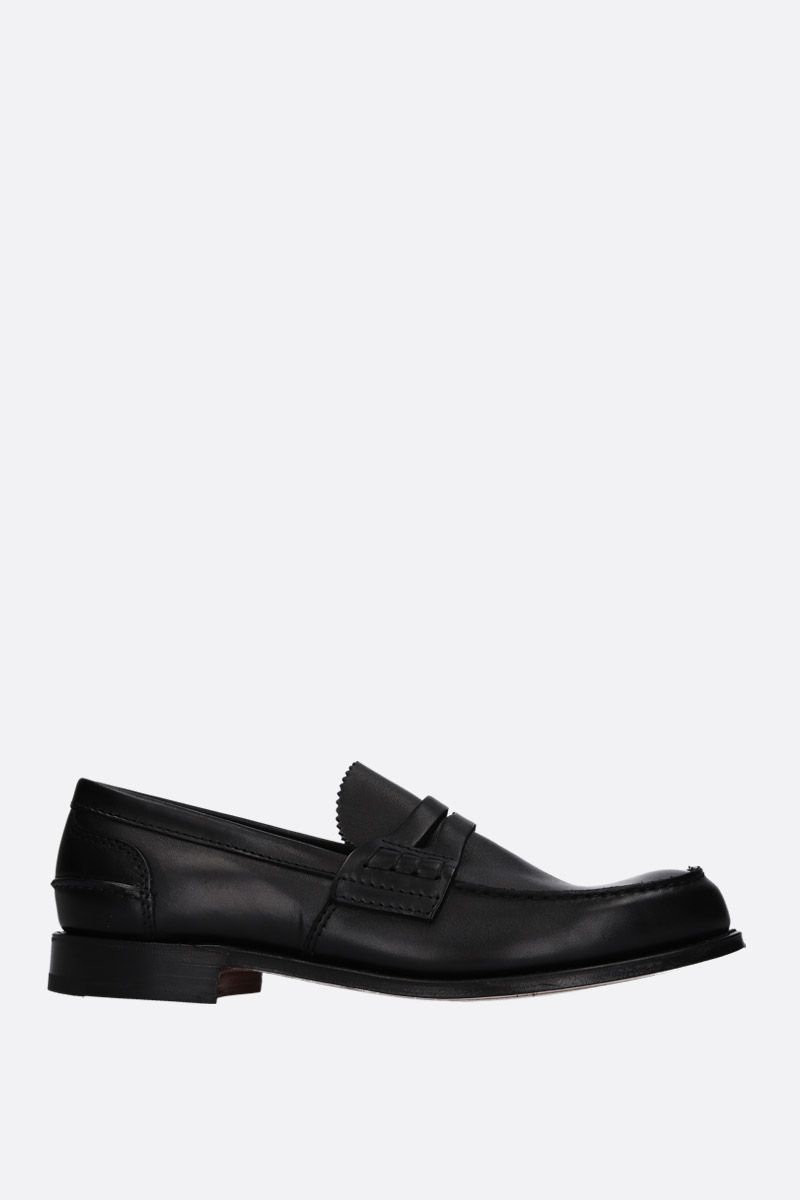 CHURCH'S: Pembrey loafers in Prestige leather Color Black_1