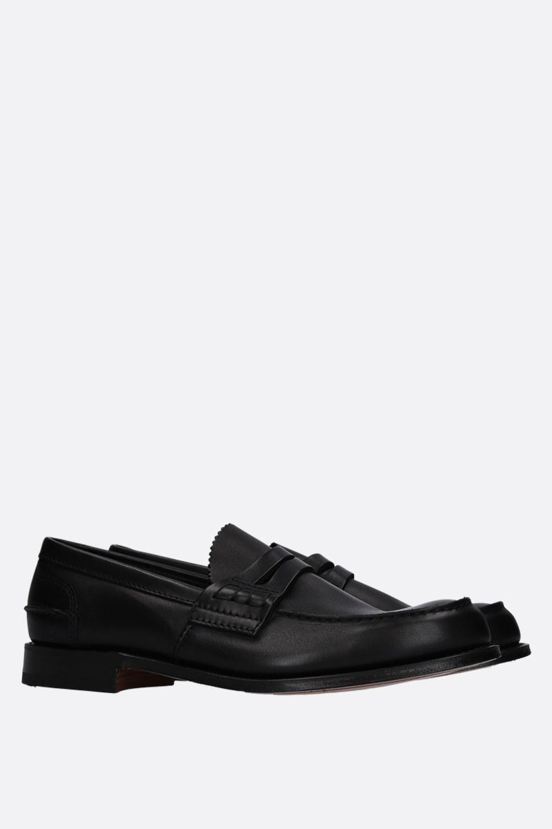 CHURCH'S: Pembrey loafers in Prestige leather Color Black_2