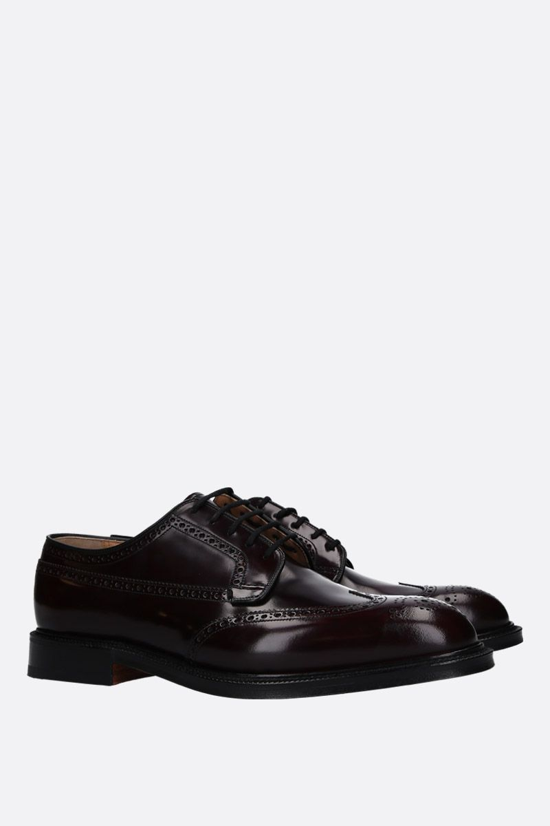 CHURCH'S: Grafton 173 derby shoes in Polishbinde leather Color Red_2