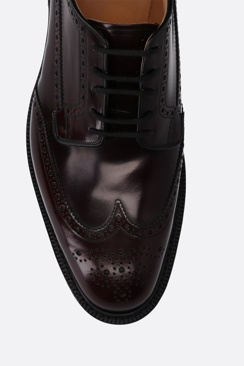 CHURCH'S: Grafton 173 derby shoes in Polishbinde leather Color Red_4