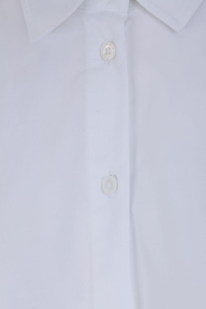 CO: cotton poplin A-line shirt Color White_3
