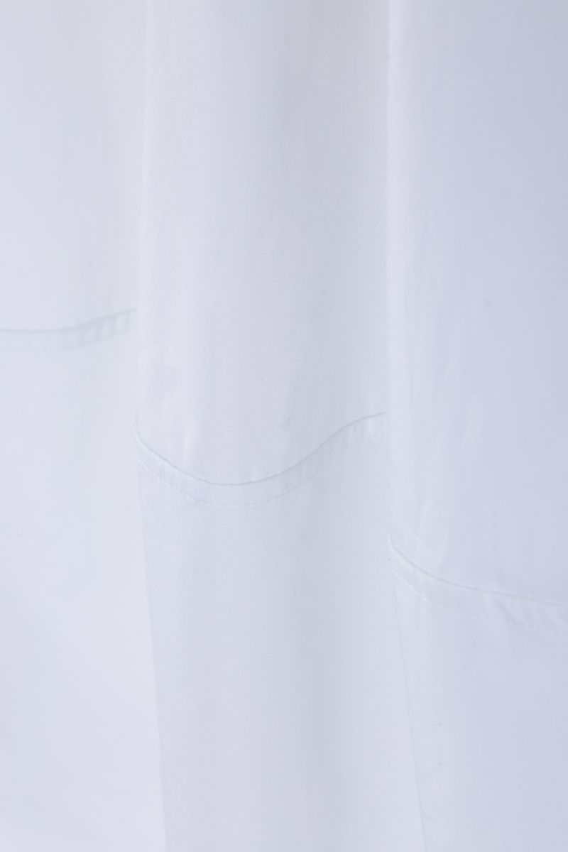 CO: cotton poplin A-line shirt Color White_4