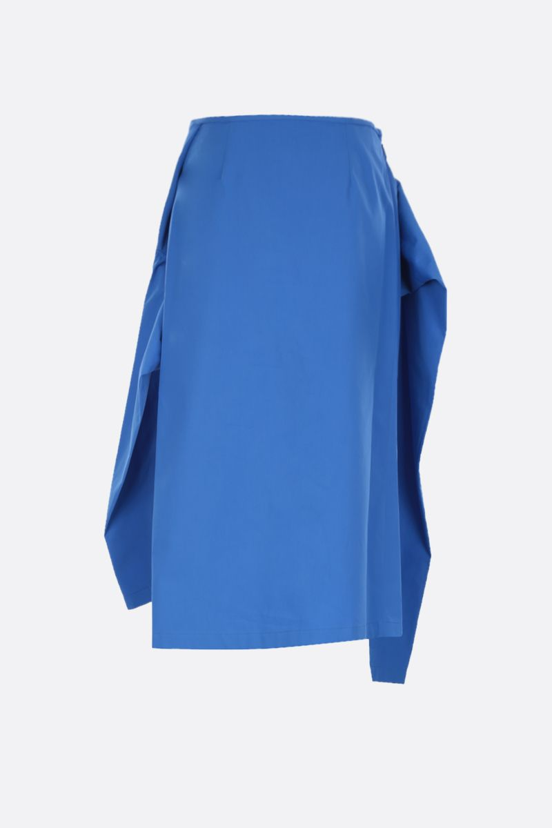 COLVILLE: poplin asymmetric skirt Color Blue_2