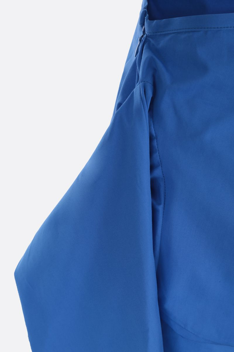 COLVILLE: poplin asymmetric skirt Color Blue_3