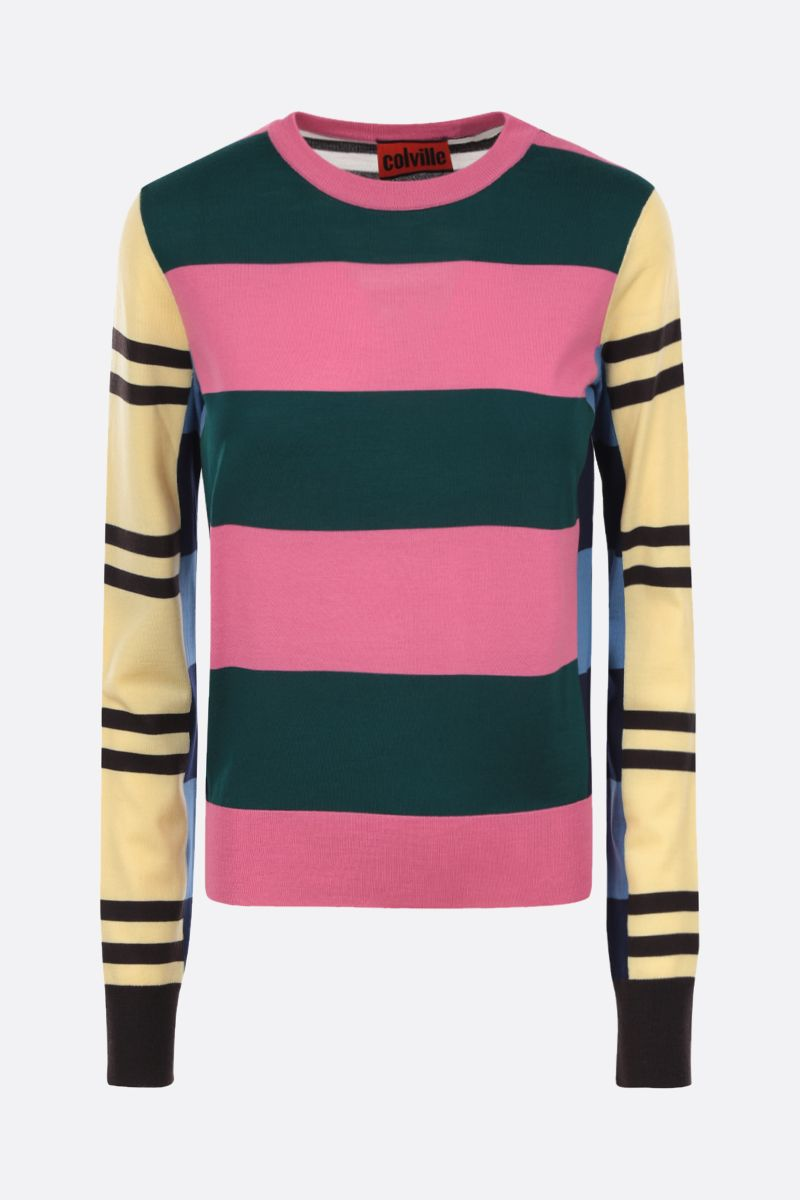 COLVILLE: striped combed wool pullover Color Multicolor_1