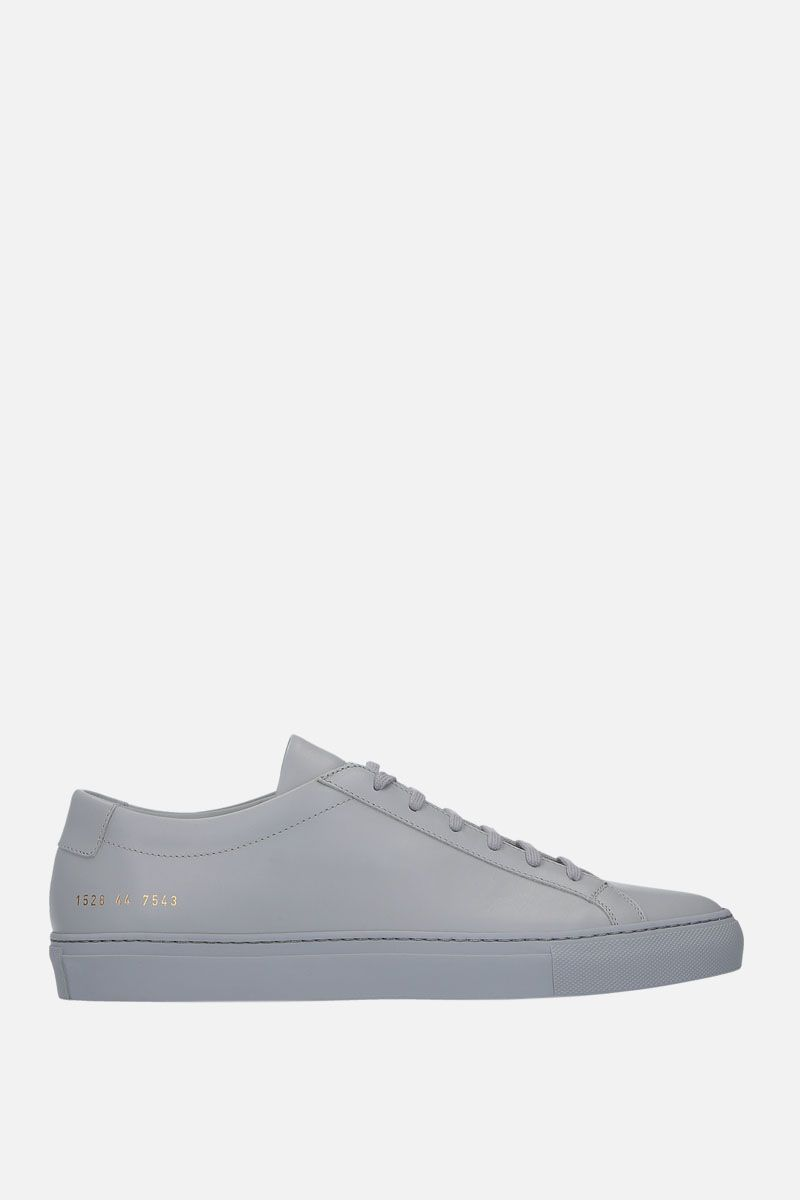COMMON PROJECTS: Original Achilles sneakers in smooth leather Color Grey_1