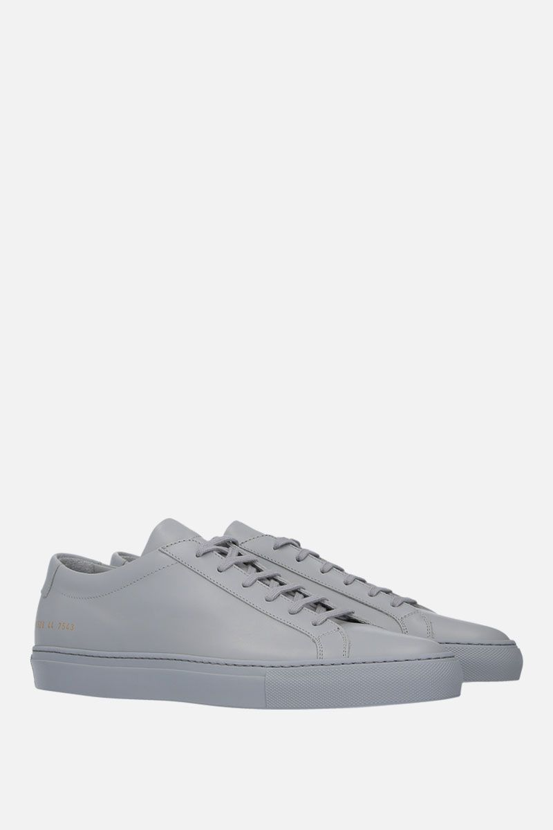 COMMON PROJECTS: Original Achilles sneakers in smooth leather Color Grey_2