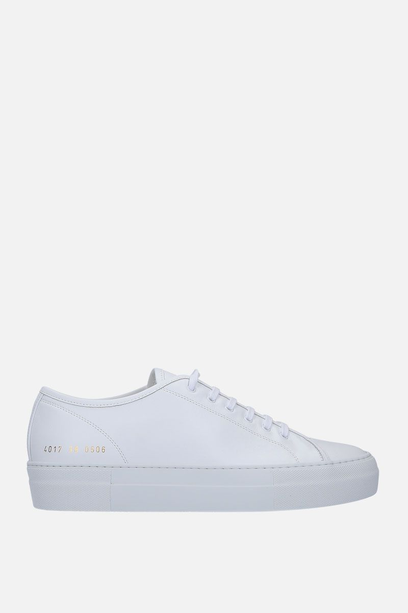 COMMON PROJECTS: Tounament sneakers in smooth leather Color White_1