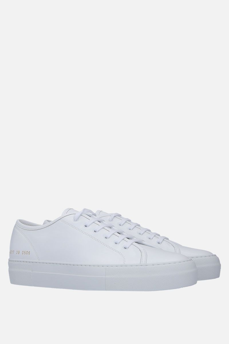 COMMON PROJECTS: Tounament sneakers in smooth leather Color White_2
