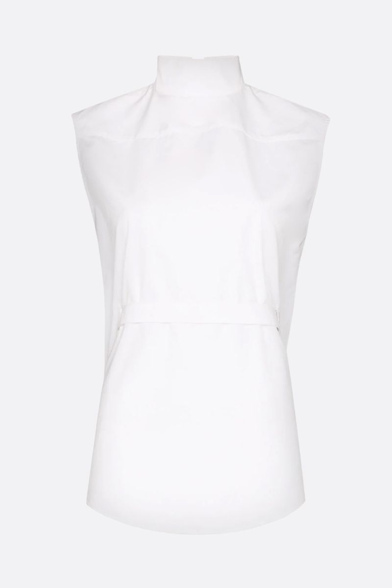 COPERNI: Back to Front cotton sleeveless top Color White_1