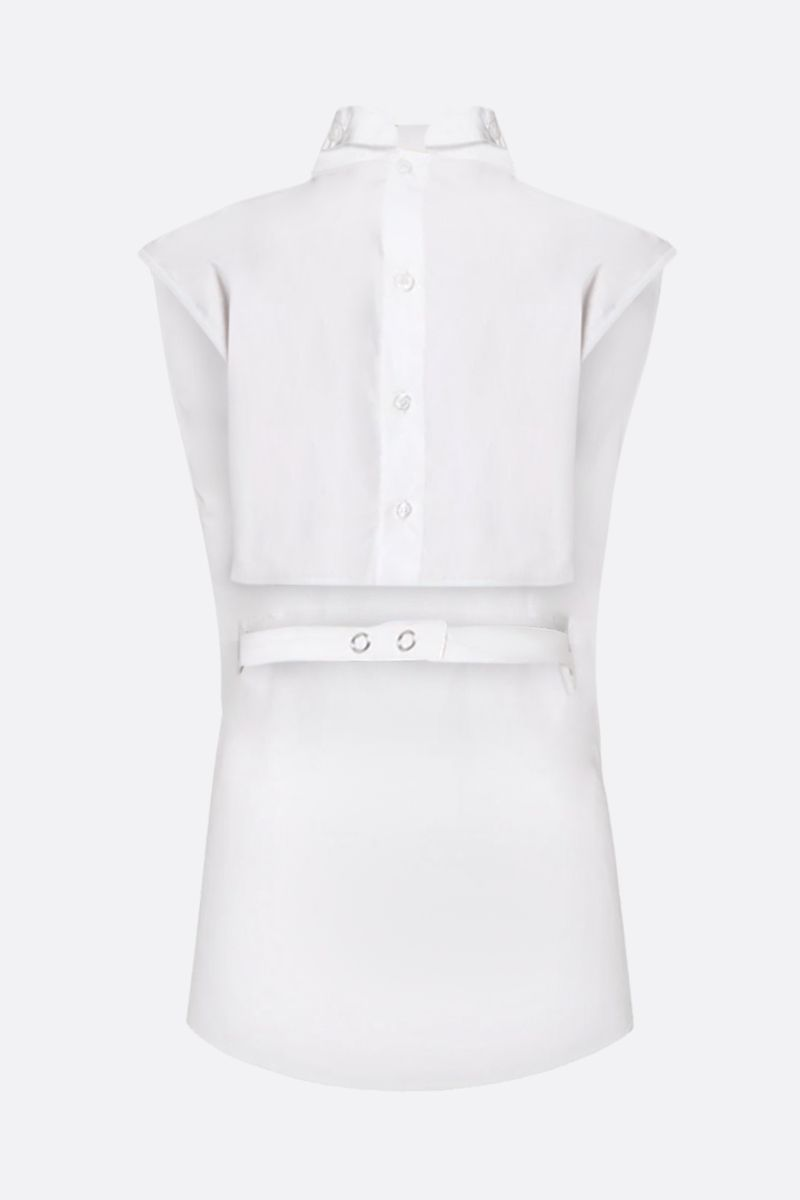 COPERNI: Back to Front cotton sleeveless top Color White_2