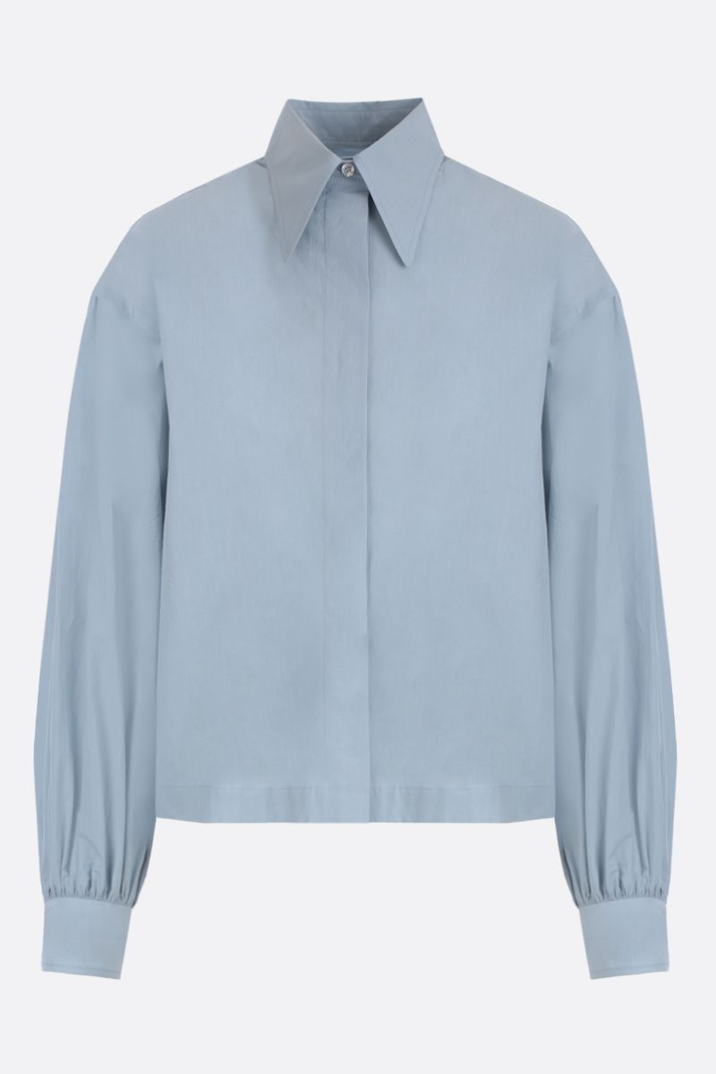DEVEAUX: Bettina cotton shirt Color Blue_1