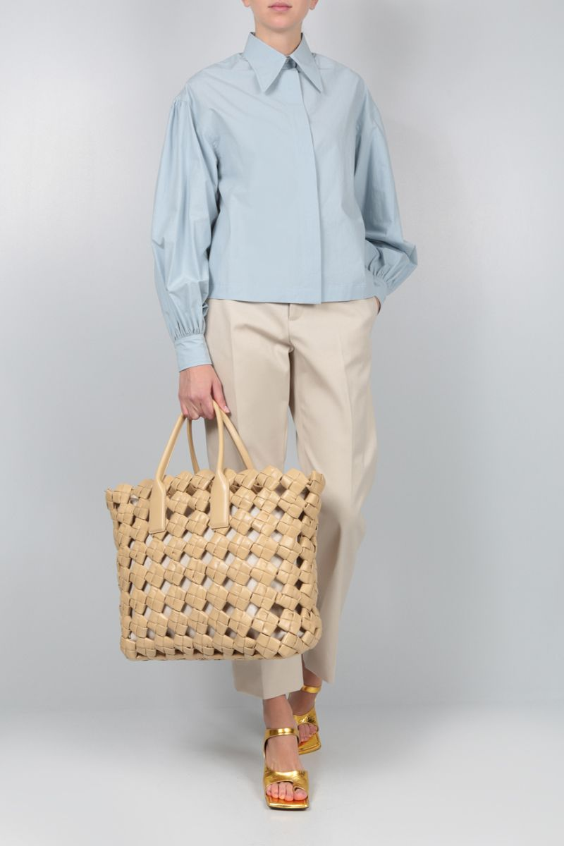DEVEAUX: Bettina cotton shirt Color Blue_2