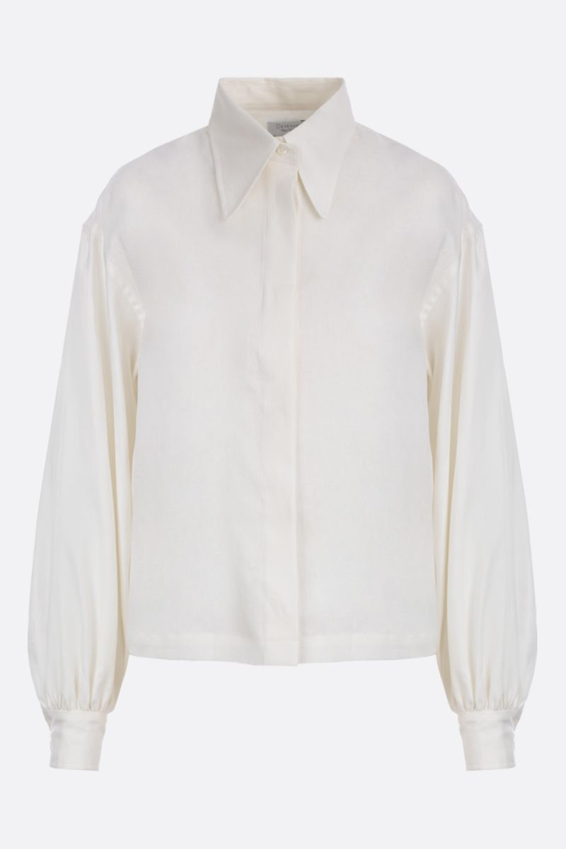 DEVEAUX: Bettina linen shirt Color White_1
