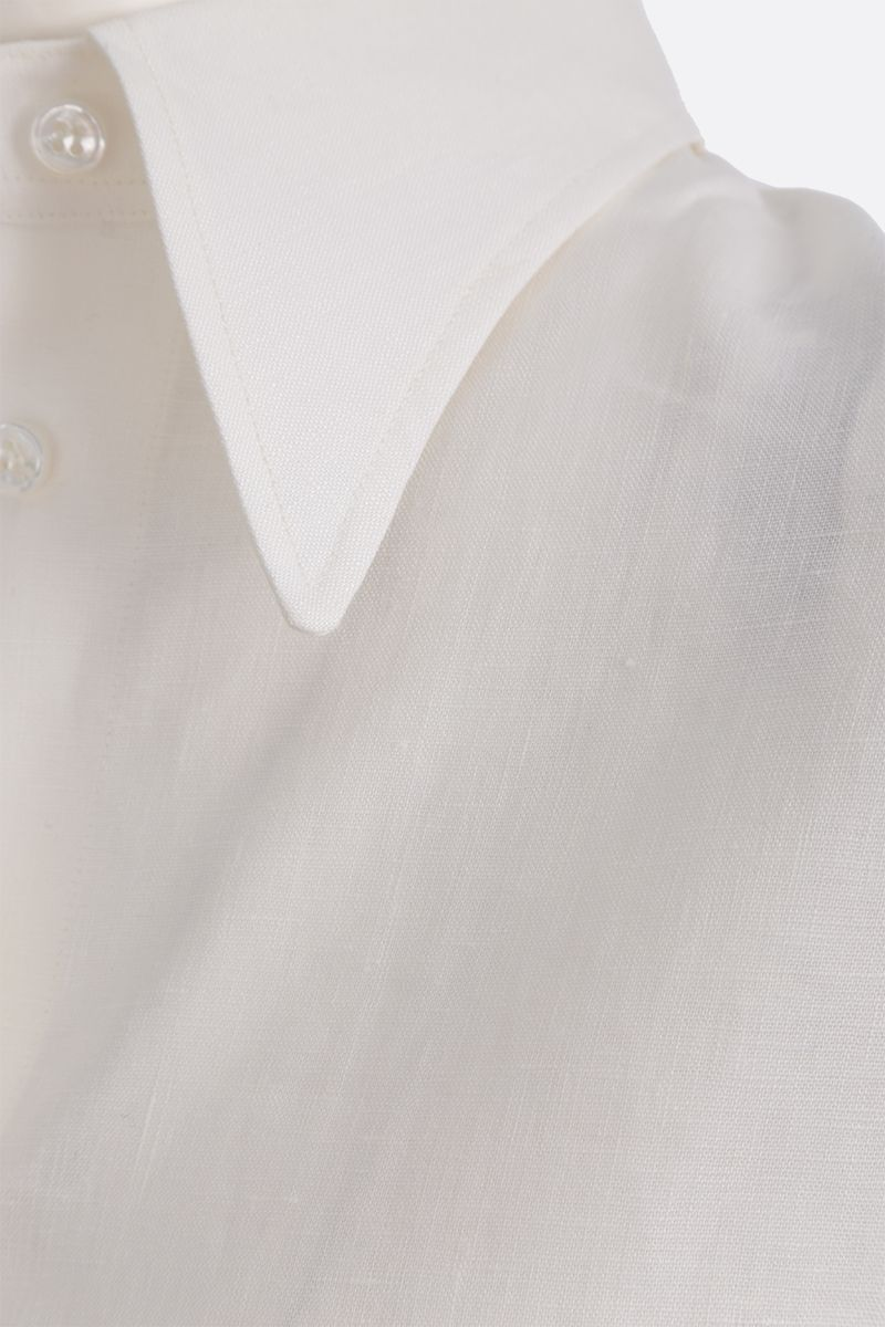 DEVEAUX: Bettina linen shirt Color White_4