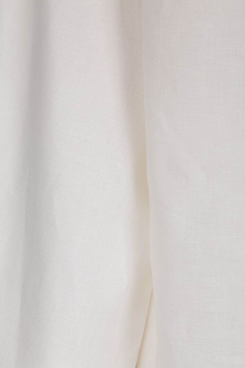 DEVEAUX: Bettina linen shirt Color White_5