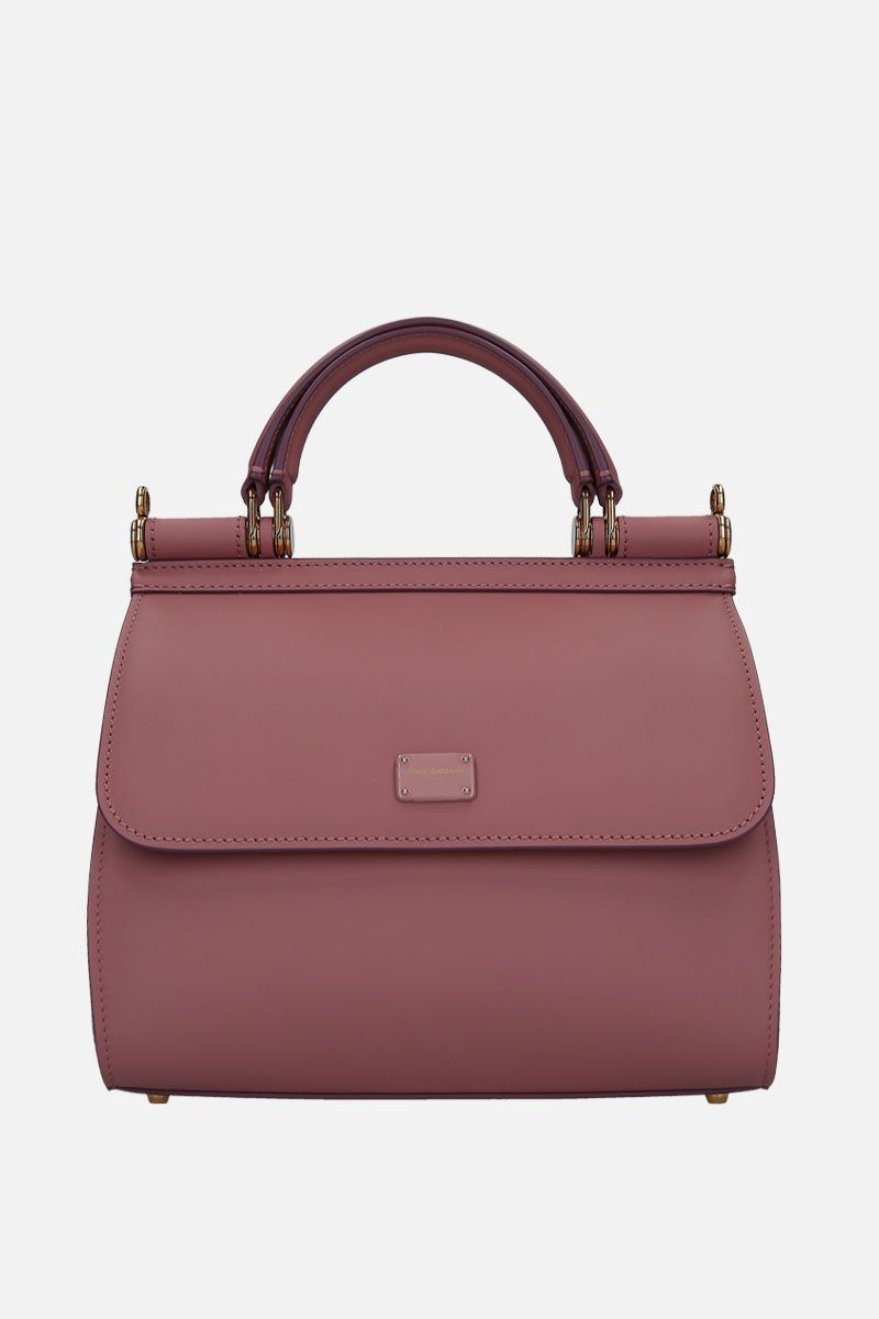 DOLCE & GABBANA: Sicily 58 small smooth leather handbag Color Pink_1