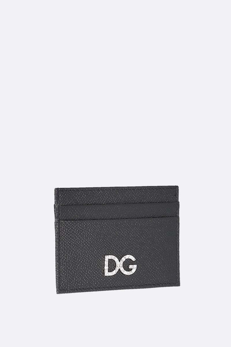DOLCE & GABBANA: Dauphine leather card case Color Black_2