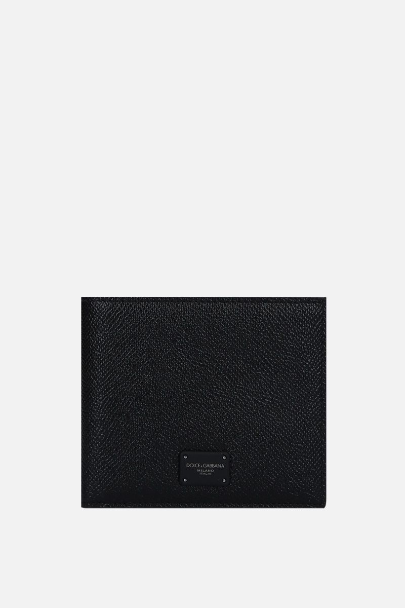 DOLCE & GABBANA: Dauphine leather billfold wallet Color Black_1