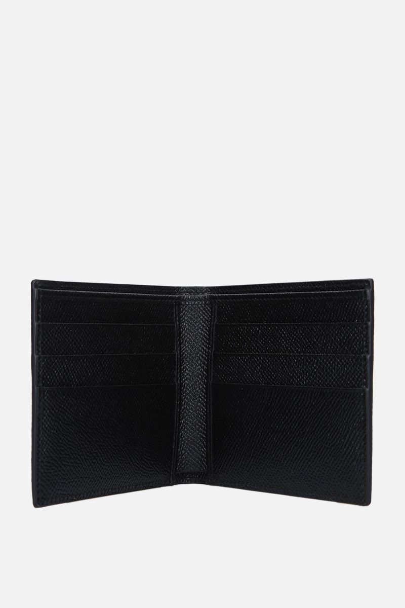 DOLCE & GABBANA: Dauphine leather billfold wallet Color Black_2