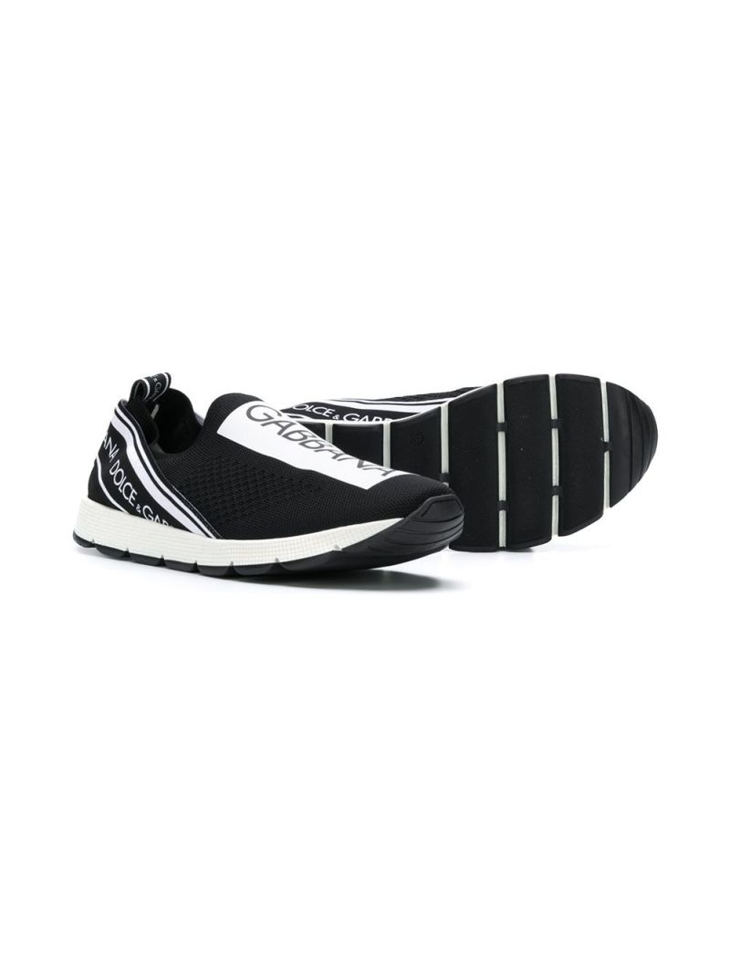 DOLCE & GABBANA CHILDREN: Sorrento sneakers in stretch knit Color Black_2