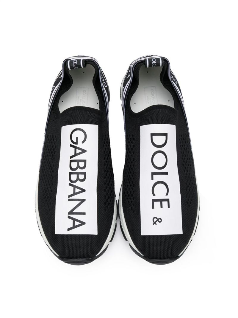 DOLCE & GABBANA CHILDREN: Sorrento sneakers in stretch knit Color Black_3