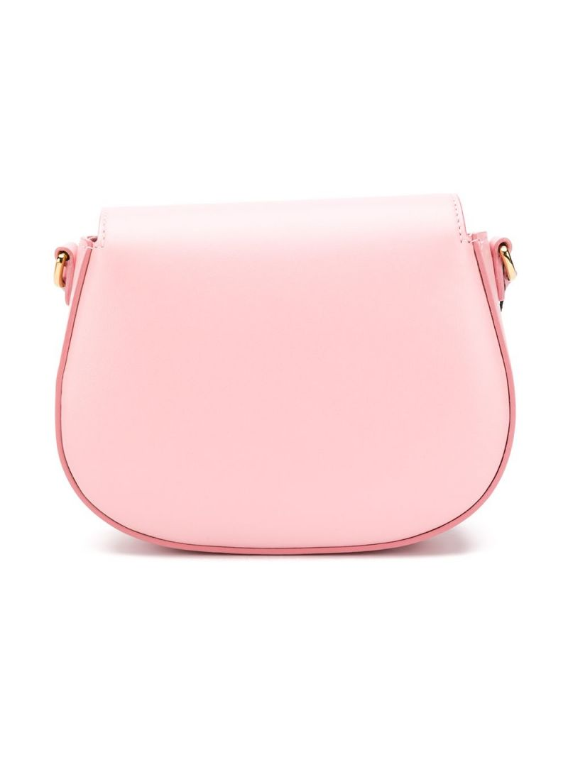 DOLCE & GABBANA CHILDREN: DG-detailed smooth leather shoulder bag Color Pink_2