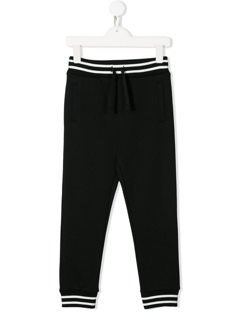DOLCE & GABBANA CHILDREN: cotton joggers Color Black_1