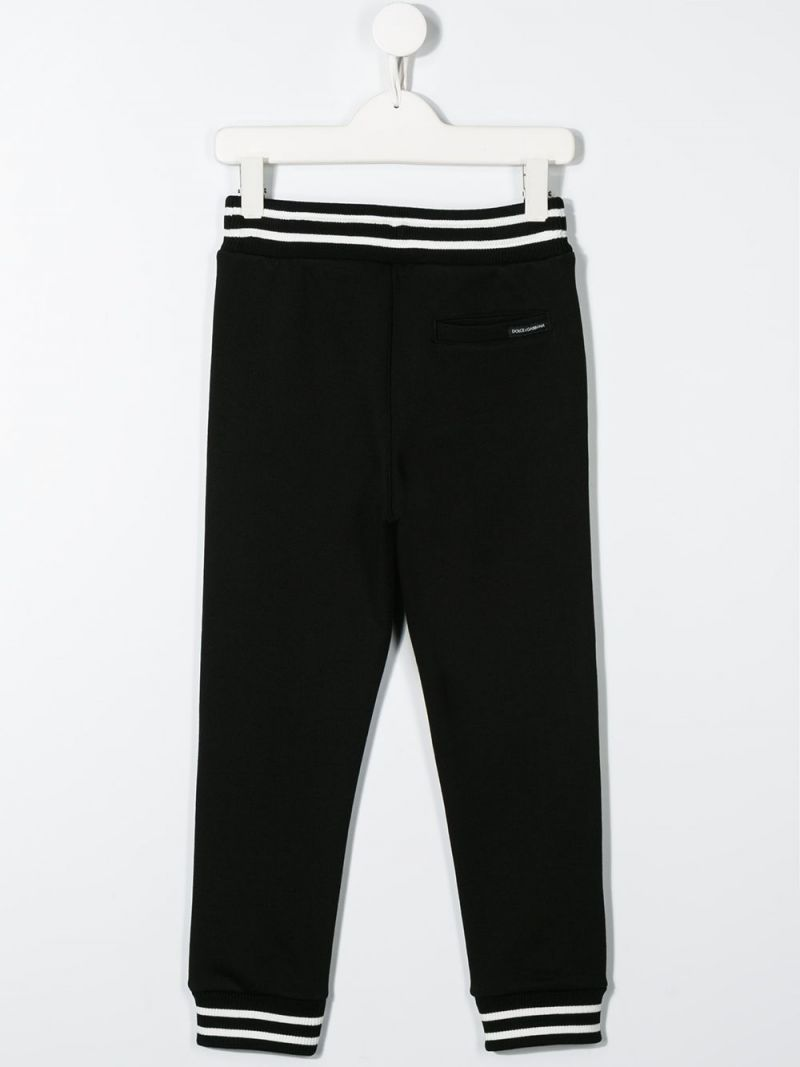 DOLCE & GABBANA CHILDREN: cotton joggers Color Black_2