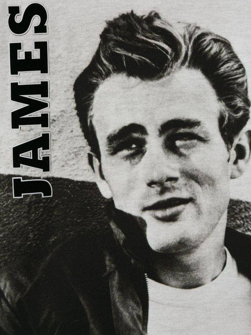 DOLCE & GABBANA CHILDREN: James Dean print cotton t-shirt Color Grey_3